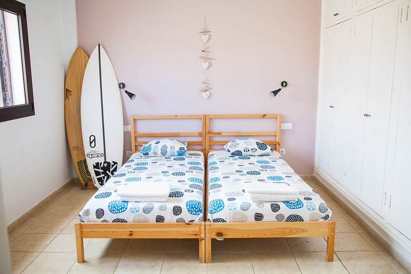 Surf camp Corralejo Fuerteventura, iles Canaries Ocean Experience Chambre double
