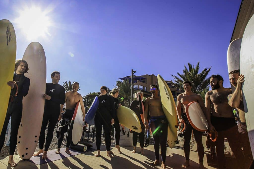 Surf-Camp-Taghazout-Maroc-planches