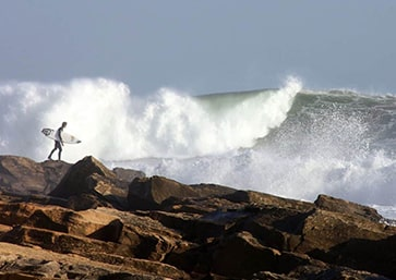 Surf Camp Taghazout Maroc rocher