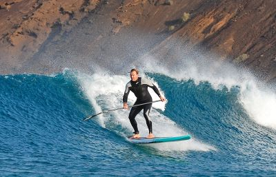 The owner of the Corralejo surf School, Fuerteventura, Canary Islands