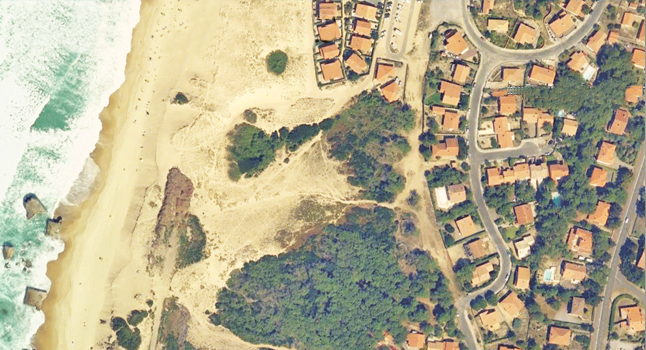 Beach house hossegor vue aérienne